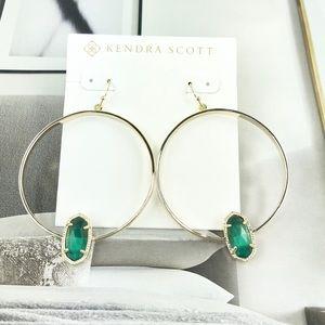 Kendra Scott Elora cat's eye gold earrings